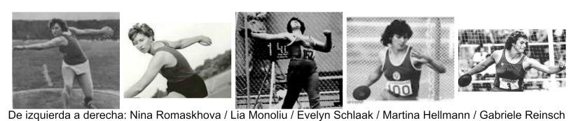 Lanzamiento de Disco Olímpico: 5.Mujeres