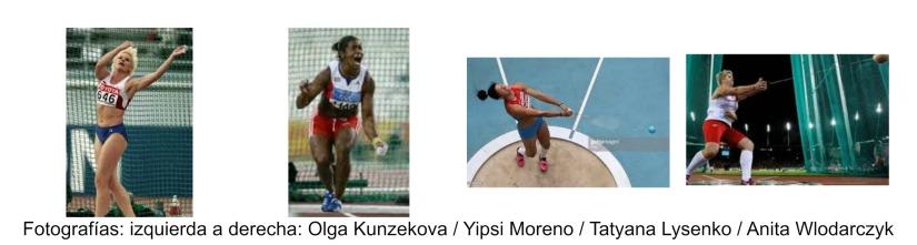 Lanzamiento de Martillo Olímpico: 7.Mujeres